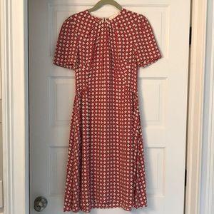 Kate Spade Size 4 Short Sleeve Pink Print Dress